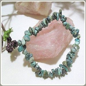 """Jewelry - """"Wrapped in Serenity"""" Chrysocolla Chip Bracelet"""